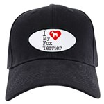 I Love My Fox Terrier Black Cap