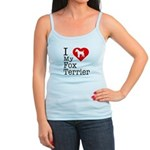 I Love My Fox Terrier Jr. Spaghetti Tank