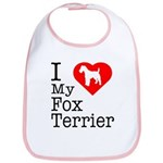 I Love My Fox Terrier Bib