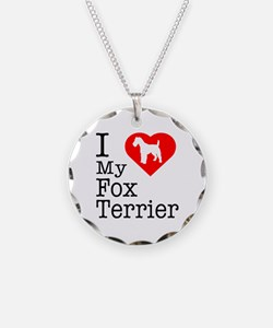 I Love My Fox Terrier Necklace