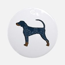 Blue Tick Coonhound Ornament (Round)