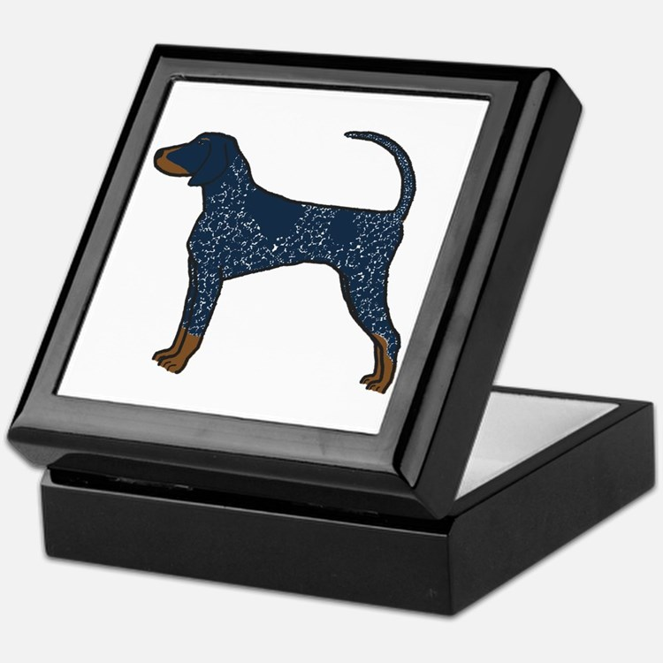 Blue Tick Coonhound Keepsake Box