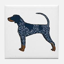 Blue Tick Coonhound Tile Coaster