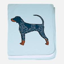 Blue Tick Coonhound baby blanket