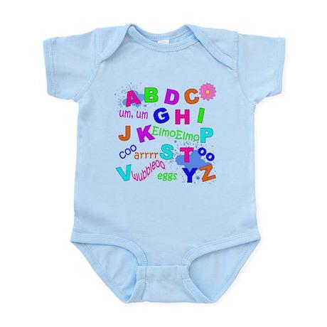Infant Bodysuit Girls Alphabet