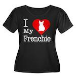 I Love My Frenchie Women's Plus Size Scoop Neck Da