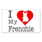 I Love My Frenchie Sticker (Rectangle)