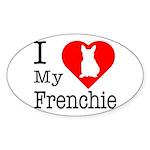 I Love My Frenchie Sticker (Oval)