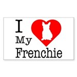 I Love My Frenchie Sticker (Rectangle 10 pk)
