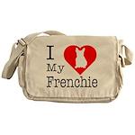 I Love My Frenchie Messenger Bag