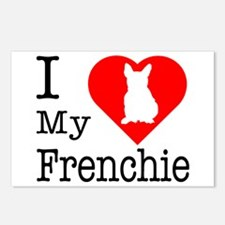 I Love My Frenchie Postcards (Package of 8)