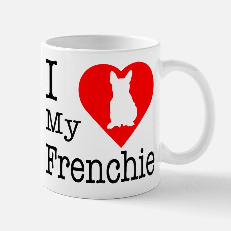 I Love My Frenchie Mug