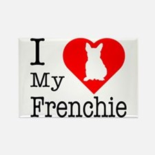 I Love My Frenchie Rectangle Magnet