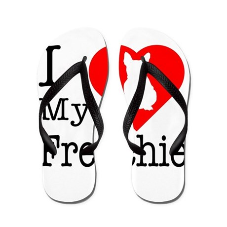 I Love My Frenchie Flip Flops