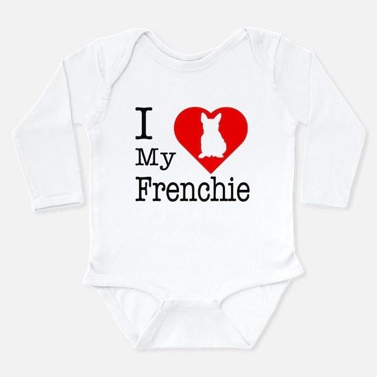 I Love My Frenchie Long Sleeve Infant Bodysuit