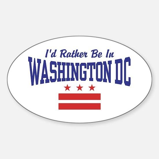 Washington DC Sticker (Oval)