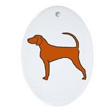 Redbone Coonhound Ornament (Oval)