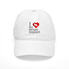 I Love My German Shepherd Baseball Cap