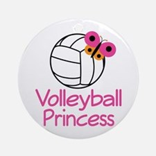 Volleyball Princess Gift Ornament (Round)