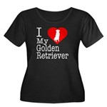I Love My Golden Retriever Women's Plus Size Scoop