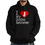 I Love My Golden Retriever Hoodie (dark)