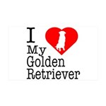 I Love My Golden Retriever 38.5 x 24.5 Wall Peel
