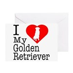 I Love My Golden Retriever Greeting Card