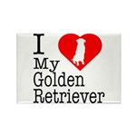 I Love My Golden Retriever Rectangle Magnet (10 pa