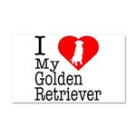 I Love My Golden Retriever Car Magnet 20 x 12