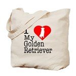 I Love My Golden Retriever Tote Bag