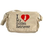 I Love My Golden Retriever Messenger Bag