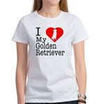 I Love My Golden Retriever Women's T-Shirt