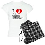 I Love My Golden Retriever Women's Light Pajamas