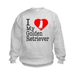 I Love My Golden Retriever Kids Sweatshirt