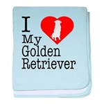 I Love My Golden Retriever baby blanket