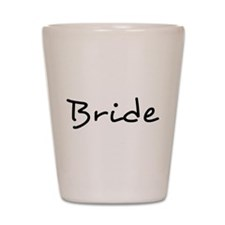Bride Black Text #2 - Shot Glass