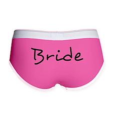 Bride Black Text #2 - Women's Boy Brief