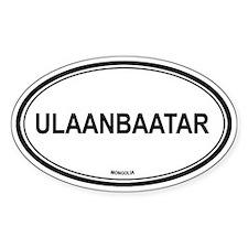 Ulaanbaatar, Mongolia euro Oval Decal