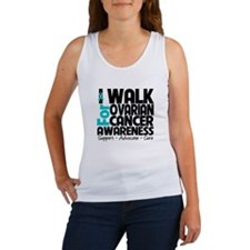 I Walk Ovarian Cancer Women's Tank Top