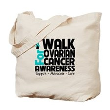 I Walk Ovarian Cancer Tote Bag