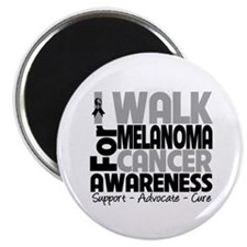 "I Walk Melanoma Awareness 2.25"" Magnet (100 pack)"