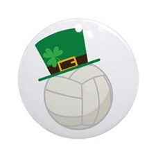 Irish Volleyball Gift Ornament (Round)