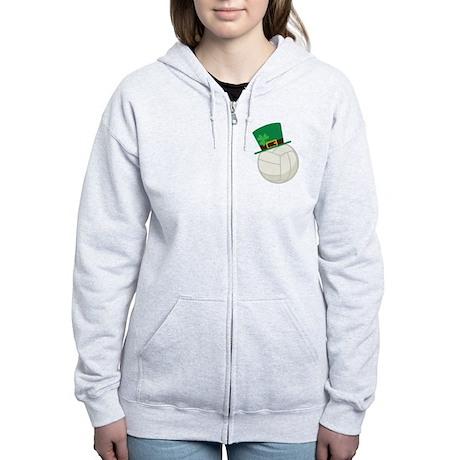 Irish Volleyball Gift Women's Zip Hoodie