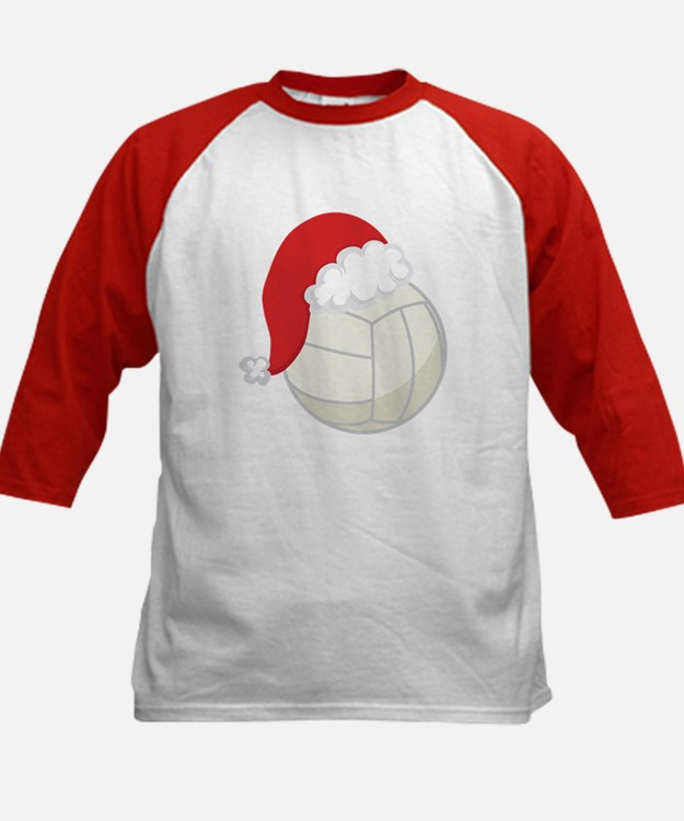 Volleyball Santa Gift Kids Baseball Jersey