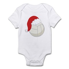 Volleyball Santa Gift Infant Bodysuit