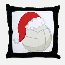 Volleyball Santa Gift Throw Pillow