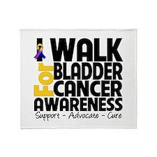 I Walk Bladder Cancer Throw Blanket