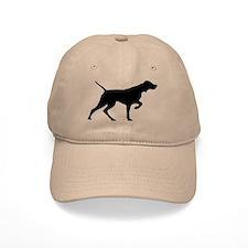 Vizsla Baseball Cap (black silhouette)