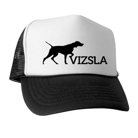 Vizsla Trucker Hat (black silhouetteVIZSLA)