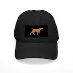 Vizsla Baseball Cap (gold silhouette on black)